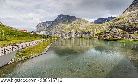 Trollstigen Center And Outlook Along National Scenic Route Geiranger Trollstigen More Og Romsdal Cou