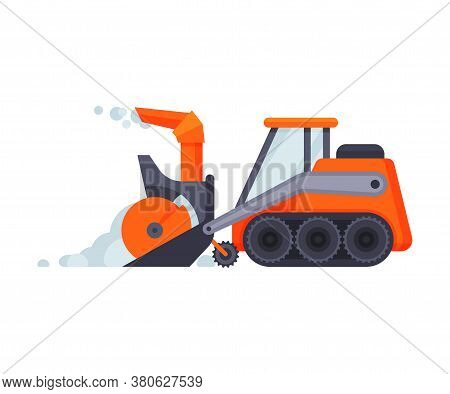 Snow Plow Bulldozer, Winter Snow Removal Machine, Heavy Professional Cleaning Road Snowblower Vehicl