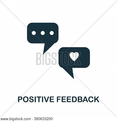 Positive Feedback Icon. Simple Element From Team Building Collection. Creative Positive Feedback Ico