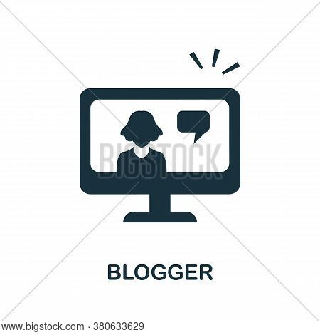 Blogger Icon. Simple Element From Social Media Collection. Creative Blogger Icon For Web Design, Tem