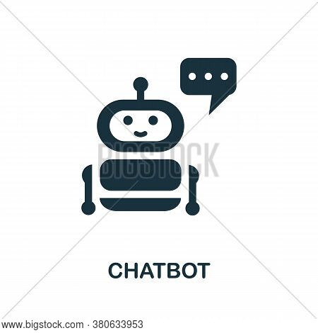 Chatbot Icon. Simple Element From Social Media Collection. Creative Chatbot Icon For Web Design, Tem