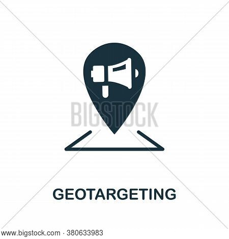 Geotargeting Icon. Simple Element From Social Media Collection. Creative Geotargeting Icon For Web D