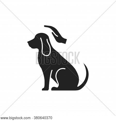 Dog Care Black Glyph Icon. Improving The Life Of Dogs. Actions Aimed At Their Care. Pictogram For We