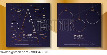 Merry Christmas and Happy New Year luxury greeting card set.Christmas background with Shining gold balls. Christmas. Christmas Vector. Christmas Background. Merry Christmas Vector. Merry Christmas banner. Christmas illustrations. Merry Christmas Holidays.