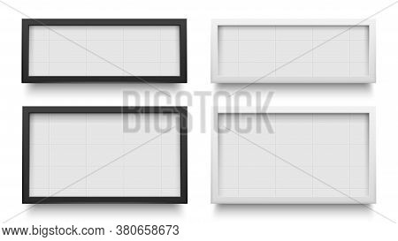 Lightbox Signs. Advertising Light Box Template, Banner Promotion Isolated For Advertisement. Vector