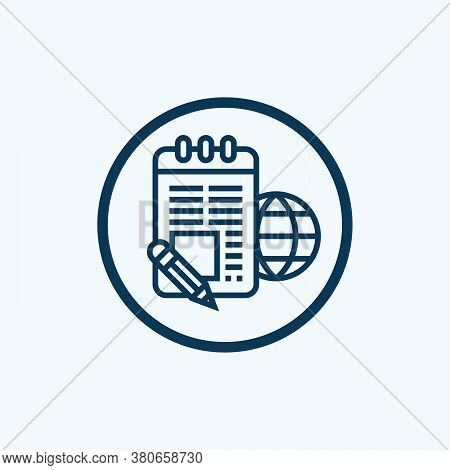 Note Icon Isolated On White Background From Chess Game Collection. Note Icon Trendy And Modern Note