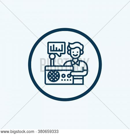 Radio Icon Isolated On White Background From Technology Devices Collection. Radio Icon Trendy And Mo