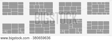 Horizontal Photo Collage Layout. Frames Photo Parts, Picture Or Corporate Images For Board And Brand