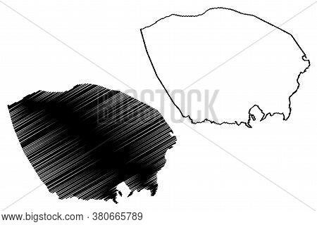 Praia Municipality (republic Of Cabo Verde, Concelhos, Cape Verde, Santiago Island, Archipelago) Map