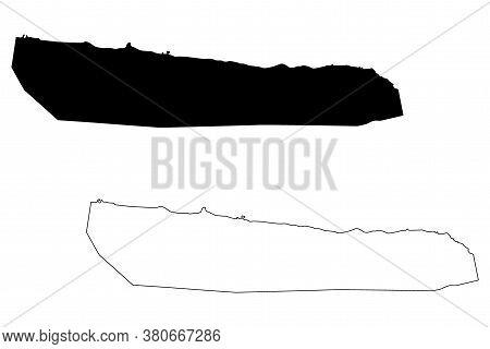 Stanley City (falkland Islands, British Overseas Territory, United Kingdom) Map Vector Illustration,