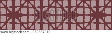 Japanese Tie Dye Seamless Pattern. Geometric Bohemian Asian Tie Dye Print. Rich Vip Japanese Clothes