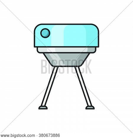 Pitching Machine Icon For Website Design And Desktop Envelopment, Development. Premium Pack.
