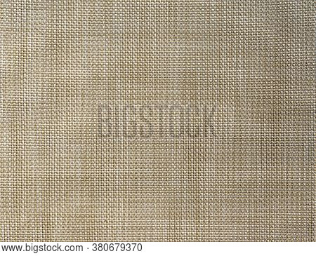 Burlap Sackcloth Textured Background. Woven Fabric Crisscross String Threads, Sack Grid Pattern. Bei