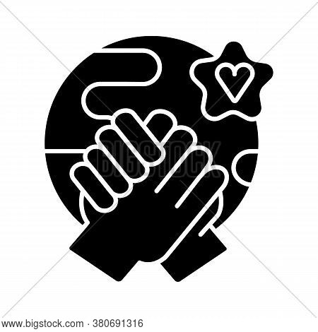 Tolerance Black Glyph Icon. Human Rights, Equality, Solidarity And Compassion. Communication Skills,