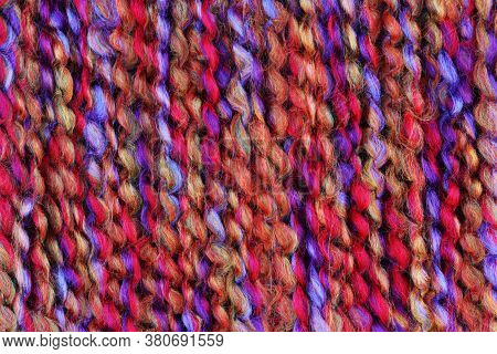 Multi Colored Wool Thread Yarn Background Texture