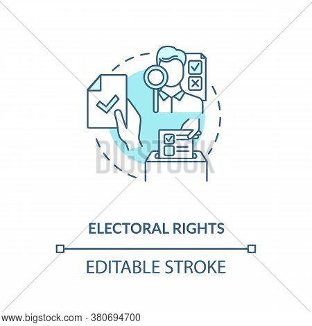 Electoral Rights Concept Icon. Right To Vote Idea Thin Line Illustration. Suffrage. Civics Education
