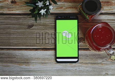 Chiang Mai, Thailand - August 11, 2020 : Mobile Phone With Wechat App On The Screen.wechat Is A Chin