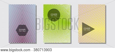 Geometric Design Templates For Banners, Covers. Presentation Backdrops. Halftone Lines Music Poster