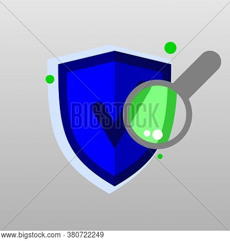 Illustracion healthy laptop scanning Verified Icon on Computer.   Secure computer. Safe scan verify