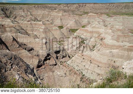 Beautiful, Colorful Big Badlands Overlook In Badlands National Park South Dakota