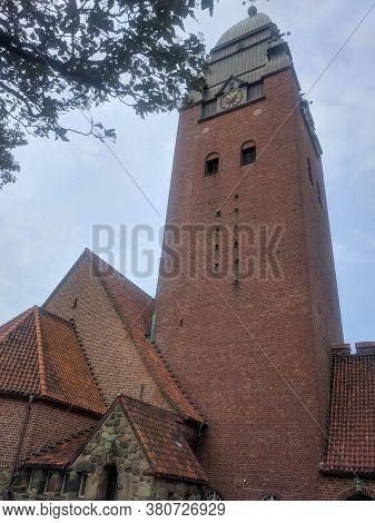Gothenburg, Sweden - June 18 2019: Exterior View Of Masthugget Church On June 18 2019 In Gothenburg,