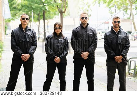Security Guard Group Event Service. Bodyguard Officer Outside