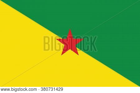 French Guiana Flag Vector Graphic. Rectangle Guyanese Flag Illustration. French Guiana Country Flag