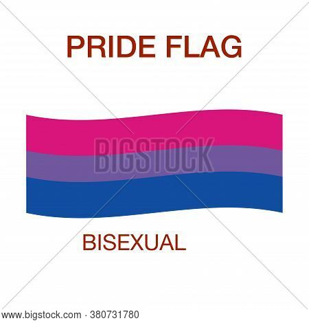 Bisexual Pride Flag On White Background. Pride Symbol.the Official Symbol Of The Community