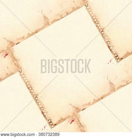 Vintage Retro Paper Sheet Grunge Seamless Pattern Background Texture