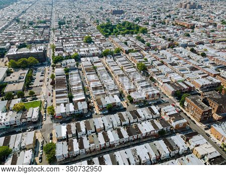 Philadelphia Aerial Perspective At Overhead View Of The Over Showing Neighborhood Family Private Hou