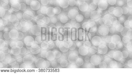 Abstract Grey Background With Bokeh Circle Soft, Bokeh Soft Gray For Wallpaper