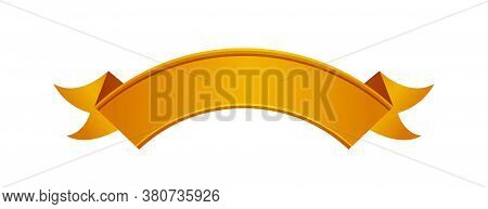 Ribbon Copper Isolated On White, Circle Ribbon Copper Luxury