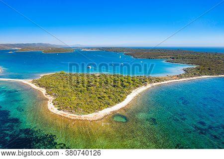 Amazing Seascape On Adriatic Sea, Archipelago Of Dugi Otok Island In Croatia And Beautiful Blue Bays
