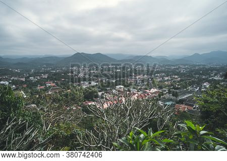 Viewpoint And Landscape In Luang Prabang, Laos From Phu Si Temple.