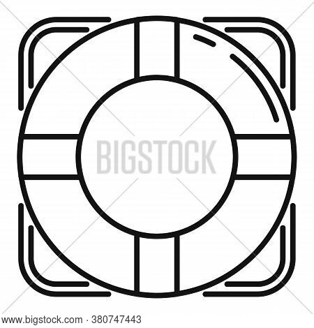 Survival Life Buoy Icon. Outline Survival Life Buoy Vector Icon For Web Design Isolated On White Bac