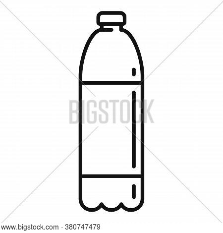 Survival Water Bottle Icon. Outline Survival Water Bottle Vector Icon For Web Design Isolated On Whi