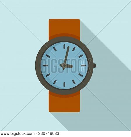 Leather Watch Repair Icon. Flat Illustration Of Leather Watch Repair Vector Icon For Web Design