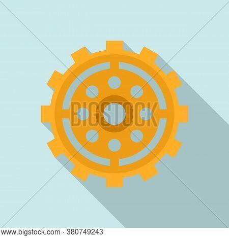 Broken Watch Cog Wheel Icon. Flat Illustration Of Broken Watch Cog Wheel Vector Icon For Web Design