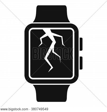 Crack Display Smartwatch Repair Icon. Simple Illustration Of Crack Display Smartwatch Repair Vector