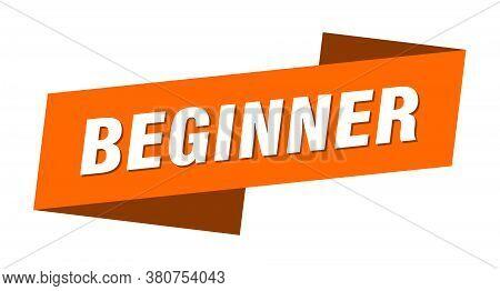 Beginner Banner Template. Beginner Ribbon Label Sign
