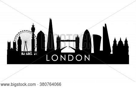 London Skyline Silhouette. Black London City Design Isolated On White Background.