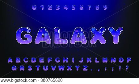 Cute Galaxy Alphabet Set.typography Of Technology Creative Font