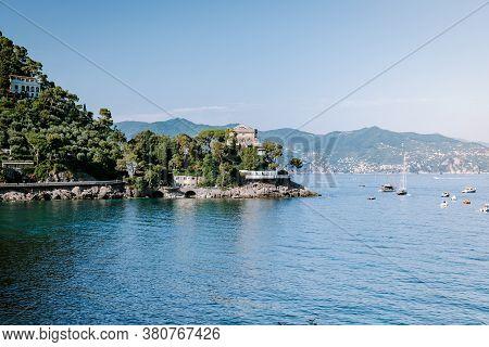 Vacation Ligurian Coast Italy, Portofino Famous Village Bay, Italy Colorful Village Ligurian Coast