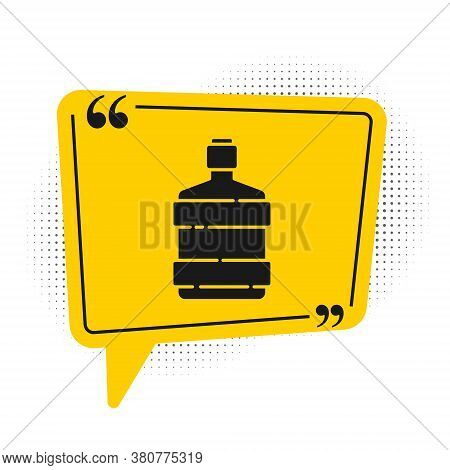 Black Big Bottle With Clean Water Icon Isolated On White Background. Plastic Container For The Coole