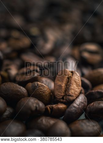 Close-up Of Roasted Thai Coffee Beans