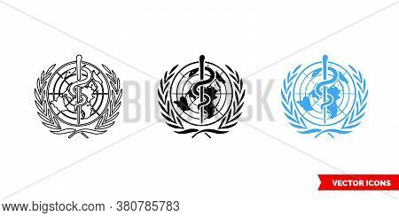 Who Symbol Icon Of 3 Types Color, Black And White, Outline. Isolated Vector Sign Symbol.