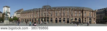 Strasbourg, France 18th August 2018 Panoramic Shot Of Place Kleber In Strasbourg