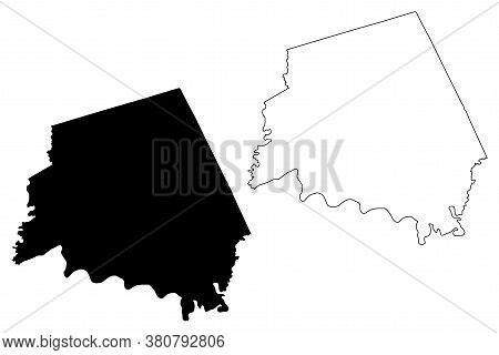 Clark County, Kentucky (u.s. County, United States Of America, Usa, U.s., Us) Map Vector Illustratio