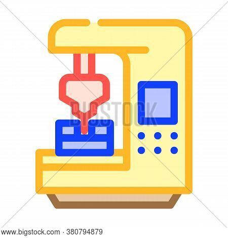 Cnc Computer Numerical Control Color Icon Vector Illustration