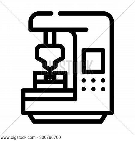Cnc Computer Numerical Control Line Icon Vector Illustration